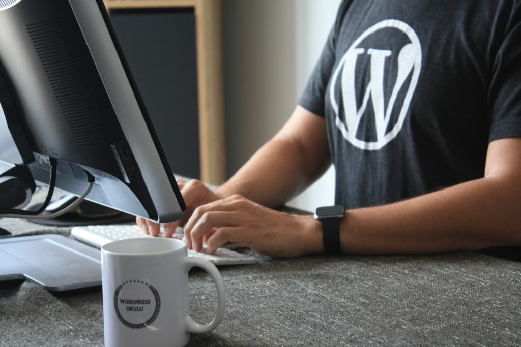 Wordpress consultant on laptop